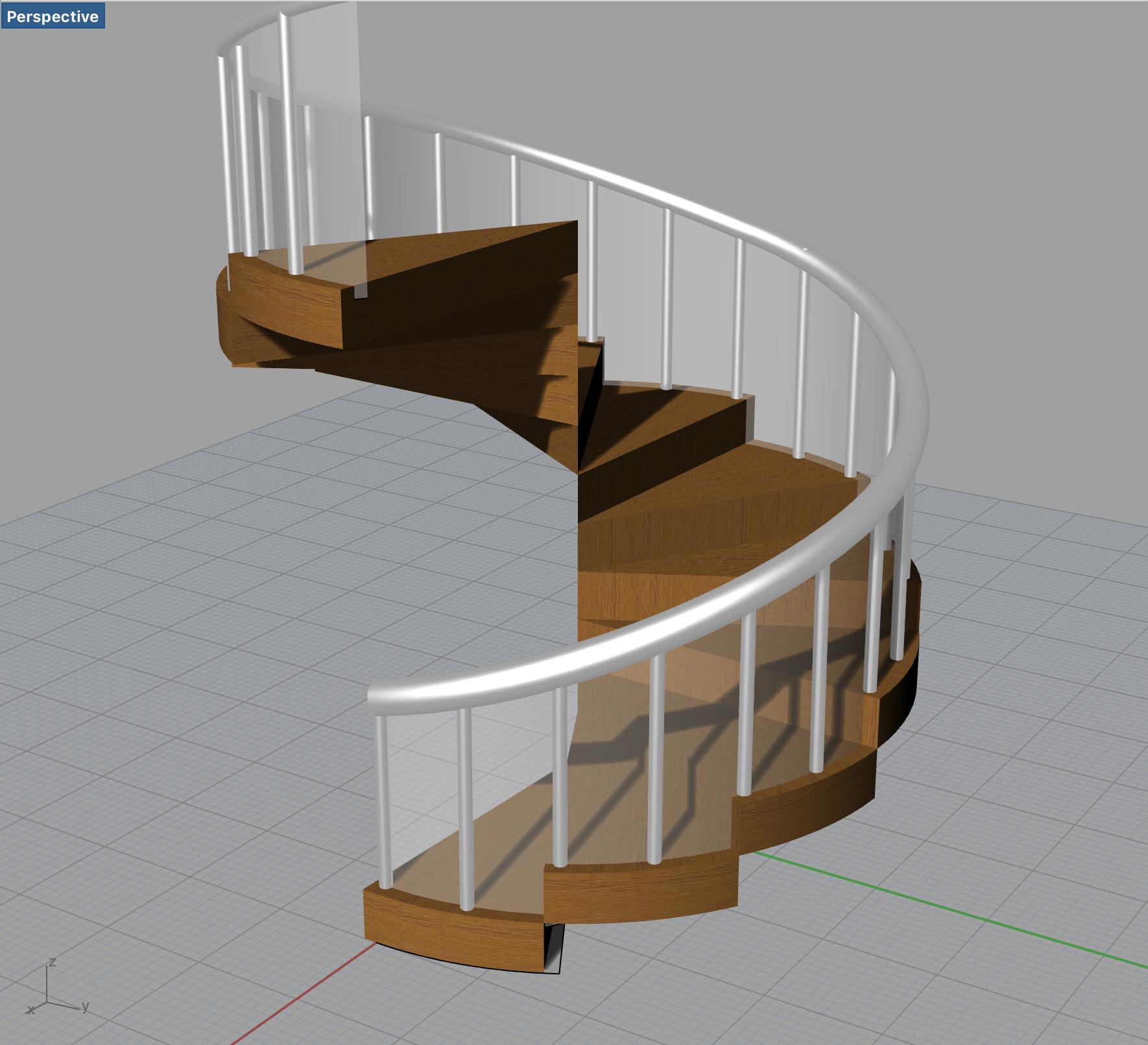 Rhinocerosで階段や柱の規則的なモデリング[Array]コマンドを使いこなせ!