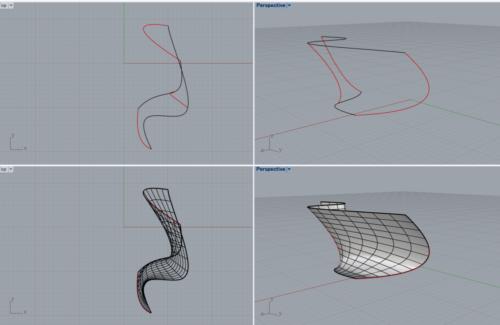 Rhinocerosで自由曲面モデリングその③ デッサンするようにモデリングできるNetworkSrfとは⁉