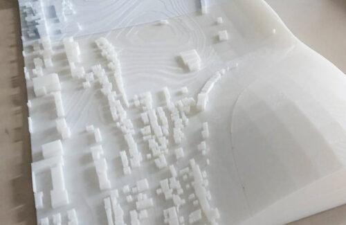 敷地模型を3Dプリンターで作ってみた