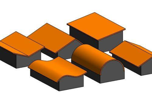 【Revit】断面から屋根を作る方法!