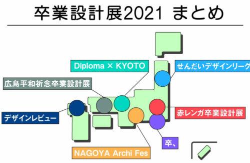 【2021版】全国の卒業設計展情報まとめ!!【SDL/デザインビュー/赤れんが/NAF/Diploma × KYOTO/広島平和祈念/卒、】